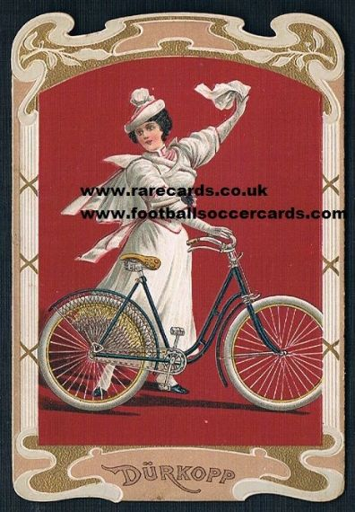 1900s Edwardian cycling card stunning